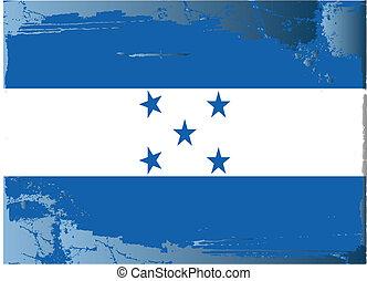 bandera, series-honduras, grunge