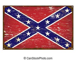 bandera, sprzymierzać się, emalia, znak