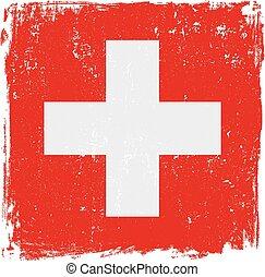 bandera suiza, vector.eps