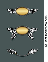 bandera, szachownica, emblemat