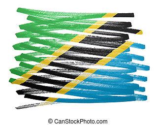 bandera, -, tanzania, ilustración