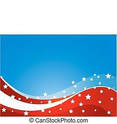 bandera, tema, estados unidos de américa