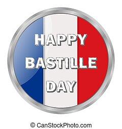 bandera, todos, bastille, francia, vector, design., isolated...