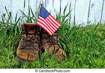 bandera, trabaje bota