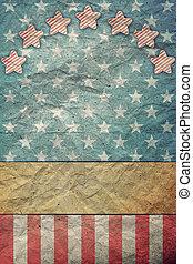 bandera, u, 4, día de trabajo, julio, s