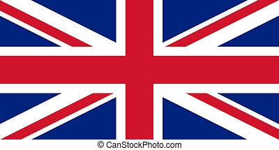 bandera, unión, reino unido, gato