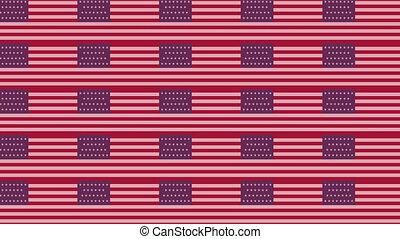 bandera, usa, bezkresny, prosperować