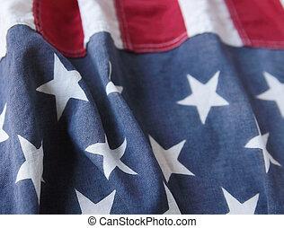 bandera, usa, pionowe pasy