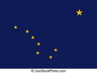 bandera, vector, alaska, ilustración