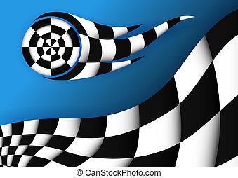 bandera, vector, carreras, plano de fondo