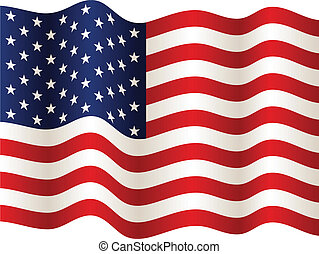 bandera, vector, estados unidos de américa