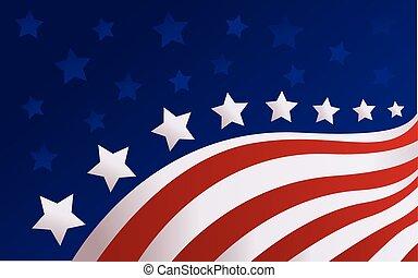 bandera, vector, estilo, estados unidos de américa