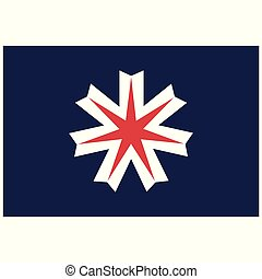 bandera, vector, hokkaido