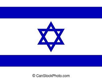 bandera, vector, illustration., israel