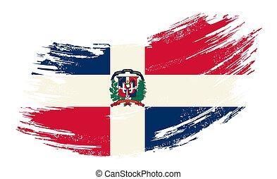 bandera, vector, illustration., república, fondo., grunge,...