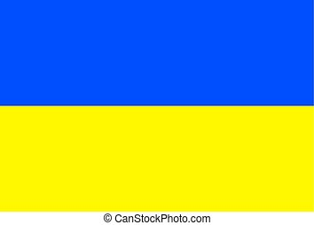 bandera, vector, ilustración, ukraine.