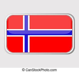 bandera, vector, noruega, form.