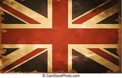 bandera, viejo, británico