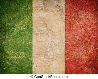 bandera, viejo, italiano