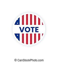 bandera, vote., amerykanka, słowo, usa, głos, rzeźnik