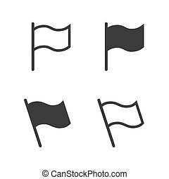 bandera, wektor, komplet, ikona
