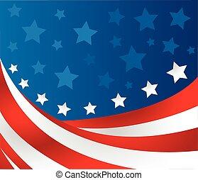 bandera, wektor, styl, usa
