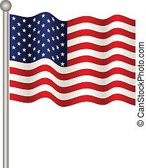 bandera, wektor, usa