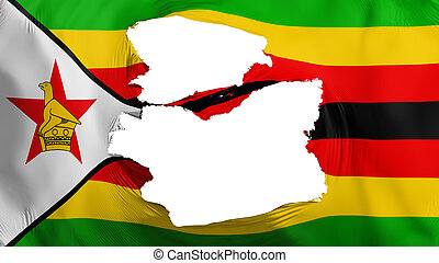 bandera, zimbabwe, andrajoso
