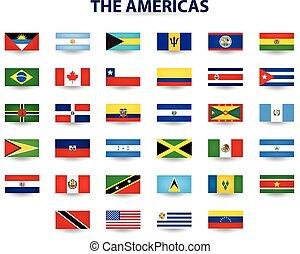 banderas, américas