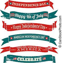 banderas, día, colección, independencia
