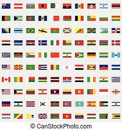 banderas del mundo, conjunto