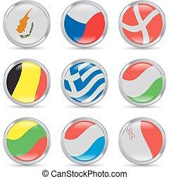 banderas europeas, iconos