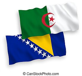 banderas, herzegovina, fondo blanco, bosnia, argelia