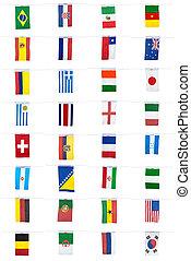 banderas, para, futbol, campeonato, 2014