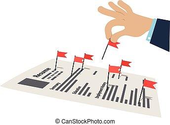 banderas, resumen, rojo