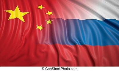 banderas, ruso, chino