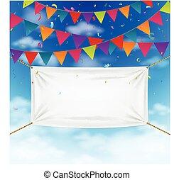 banderitas, banderas, colorido
