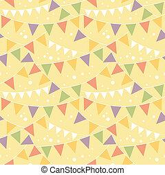 banderitas, decoraciones, patrón, seamless, plano de fondo, ...