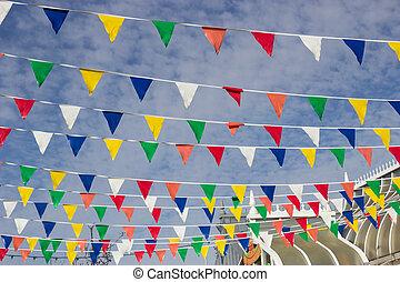 banderitas, multicolor