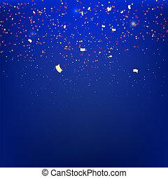 banderoles, sur, a, arrière-plan bleu, à, reflections., vetkornaya, illu