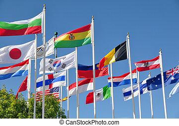 bandery, świat