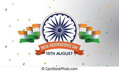 bandery, ashoka, chakra, niezależność, indie, dzień