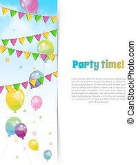 bandery, balony, chorągiew, partia