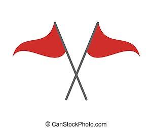 bandery, dwa, czerwony