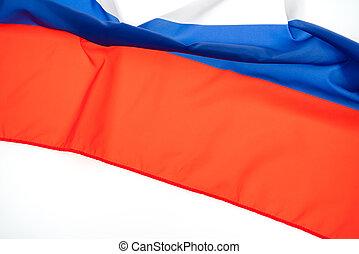 bandery, od, rosja, na białym, tło, .