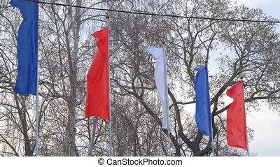 bandery, trzepotliwy, wiatr