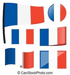 bandery, zbiór, francja