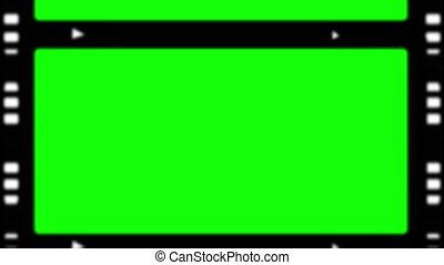 bandes, chroma, film, projection, spa, clã©