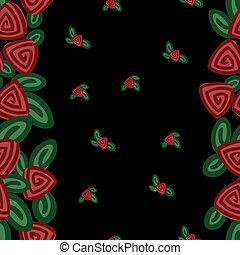 bandes, roses