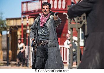bandido, pueblo, Duelos, alguacil